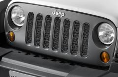 Calandre coloris noir satiné pour Jeep