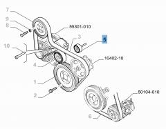 Tendeur de courroie fixe pour Fiat et Fiat Professional