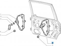 Lève-vitre électrique arrière droit pour Fiat et Fiat Professional