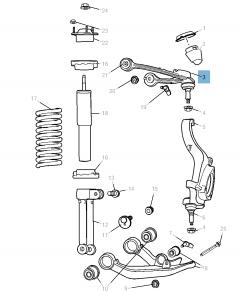 Bras oscillant de suspension avant supérieure pour Jeep Cherokee